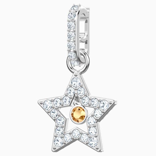 Swarovski Remix kollekció csillag charm, fehér, ródium bevonattal - Swarovski, 5443939