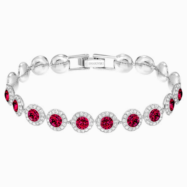 Angelic Bracelet, Red, Rhodium plated - Swarovski, 5446006
