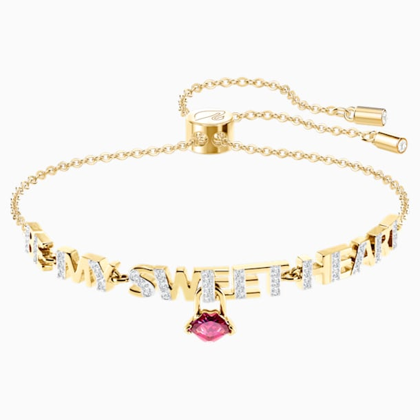 Melt Your Heart Bracelet, Dark Multi, Gold-tone plated - Swarovski, 5446015