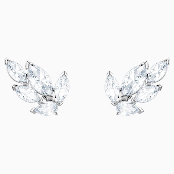 Boucles d'oreilles clous Louison, blanc, Métal rhodié - Swarovski, 5446025