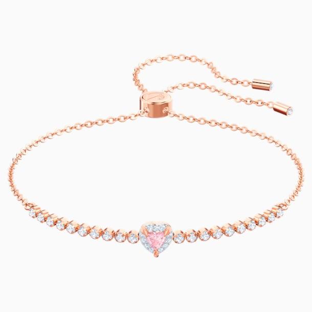 One Bracelet, Multi-colored, Rose-gold tone plated - Swarovski, 5446299