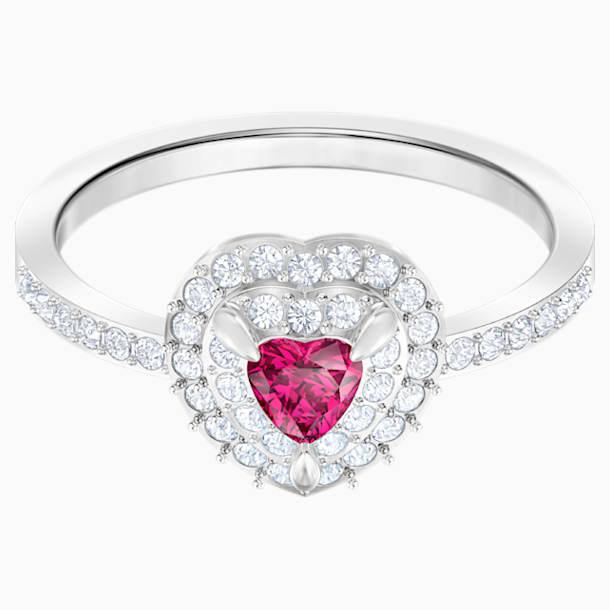 One Ring, Red, Rhodium plated - Swarovski, 5446300