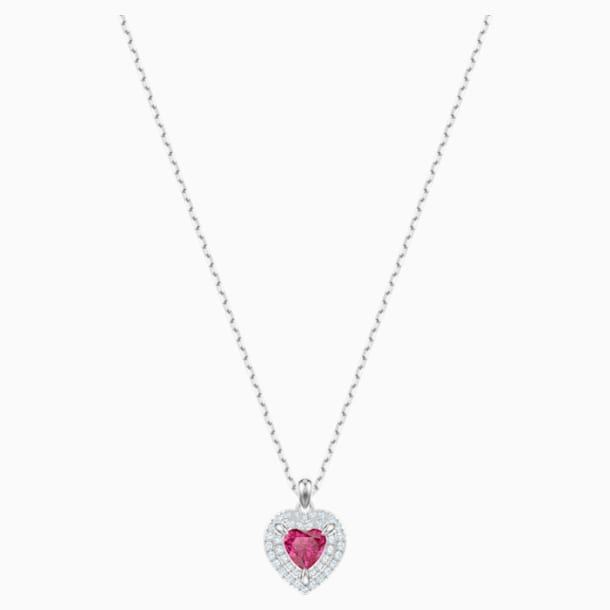 One Pendant, Red, Rhodium plated - Swarovski, 5446301