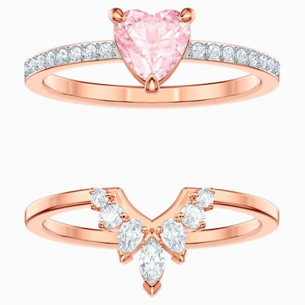 One Set, Multi-colored, Rose-gold tone plated - Swarovski, 5446302