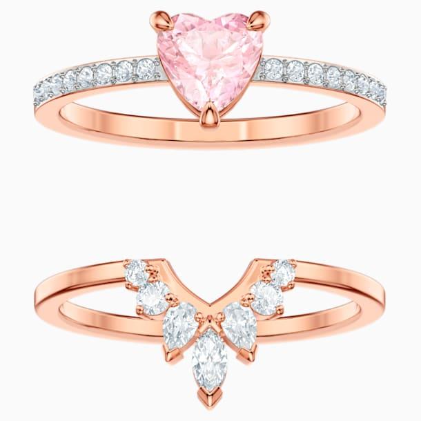 One Set, Multi-colored, Rose-gold tone plated - Swarovski, 5446302