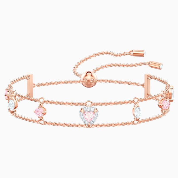 One Bracelet, Multi-coloured, Rose-gold tone plated - Swarovski, 5446304