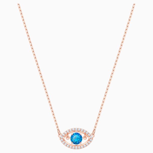 Luckily Necklace, Multi-colored, Rose-gold tone plated - Swarovski, 5448611