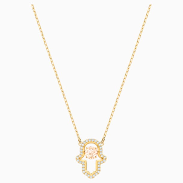 Luckily Necklace, Multi-colored, Gold-tone plated - Swarovski, 5448612