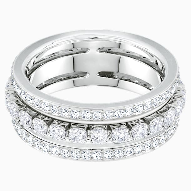 Further gyűrű, fehér, ródium bevonattal - Swarovski, 5448840