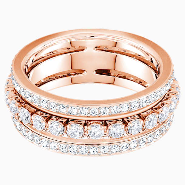 Further Ring, weiss, Rosé vergoldet - Swarovski, 5448847