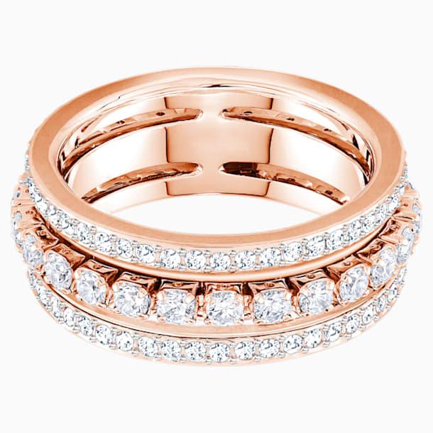 Further gyűrű, fehér, rozéarany árnyalatú bevonattal - Swarovski, 5448847