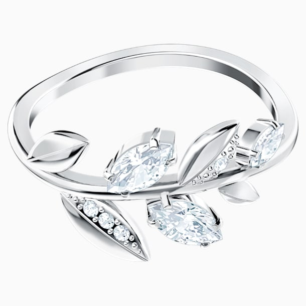 Mayfly Ring, White, Rhodium plated - Swarovski, 5448856