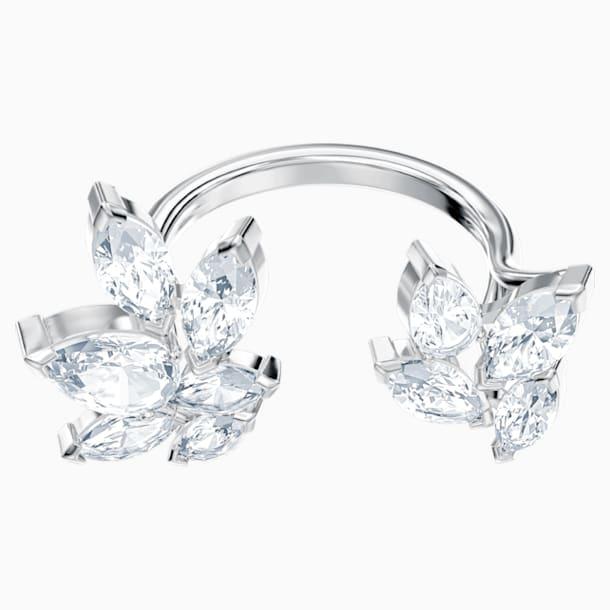 Louison nyitott gyűrű, fehér, ródium bevonattal - Swarovski, 5448874