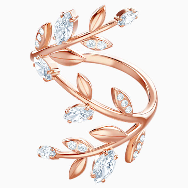 Mayfly Ring, White, Rose-gold tone plated - Swarovski, 5448883