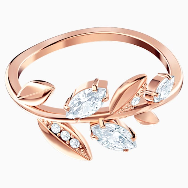 Mayfly Ring, White, Rose-gold tone plated - Swarovski, 5448886