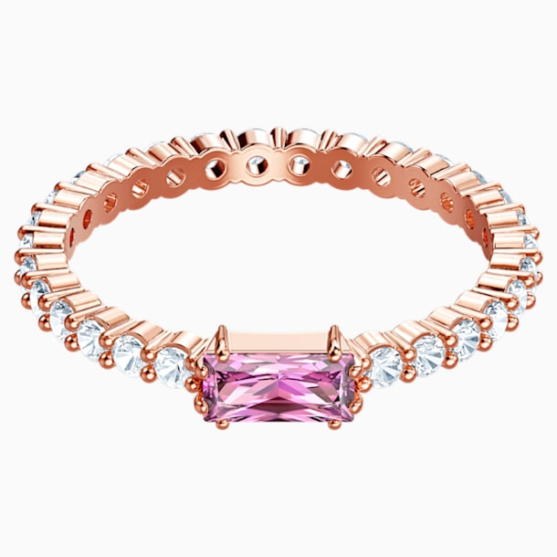 Vittore Ring, Multi-coloured, Rose-gold tone plated - Swarovski, 5448890
