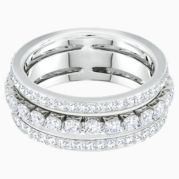 Further Ring, weiss, Rhodiniert - Swarovski, 5448892