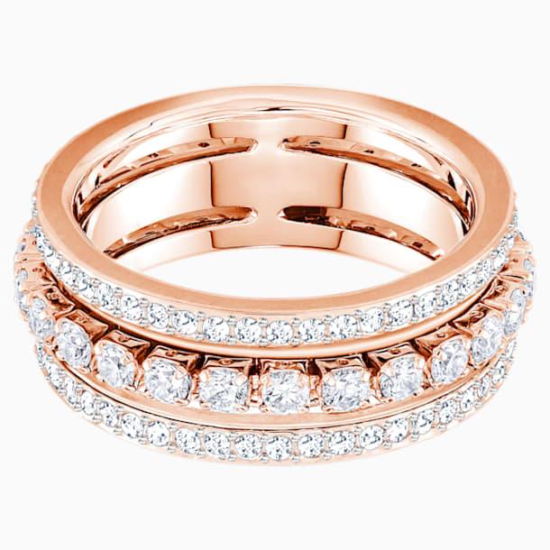 Further Ring, White, Rose-gold tone plated - Swarovski, 5448902