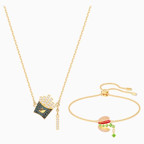 Nicest Set, Multi-colored, Gold-tone plated - Swarovski, 5448916