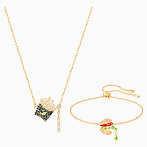Nicest Set, Multi-coloured, Gold-tone plated - Swarovski, 5448916