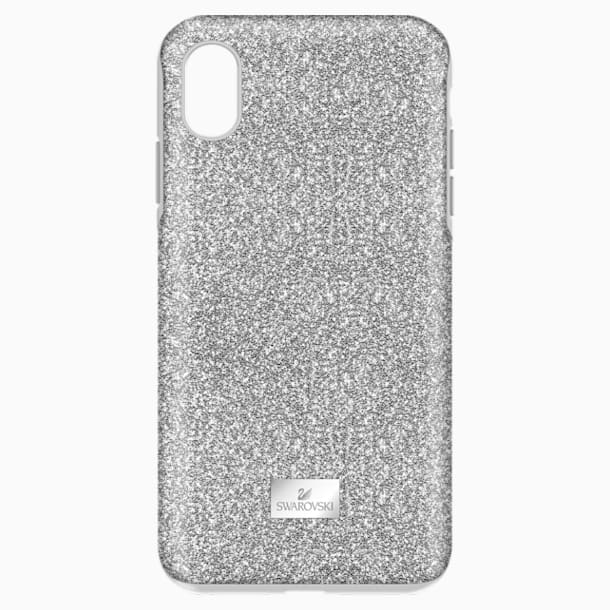 High Smartphone Case with Bumper, iPhone® XS Max, Silver tone - Swarovski, 5449135