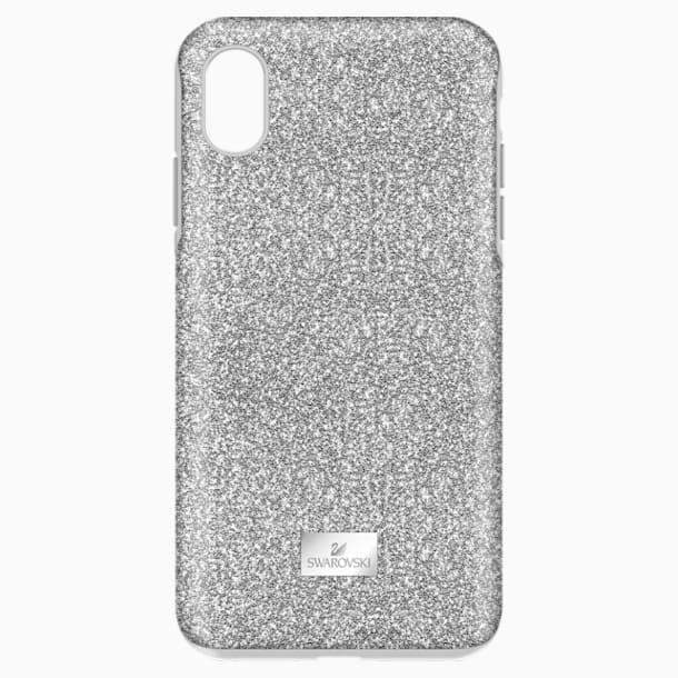 High Чехол для смартфона с противоударной защитой, iPhone® XS Max, Оттенок серебра - Swarovski, 5449135