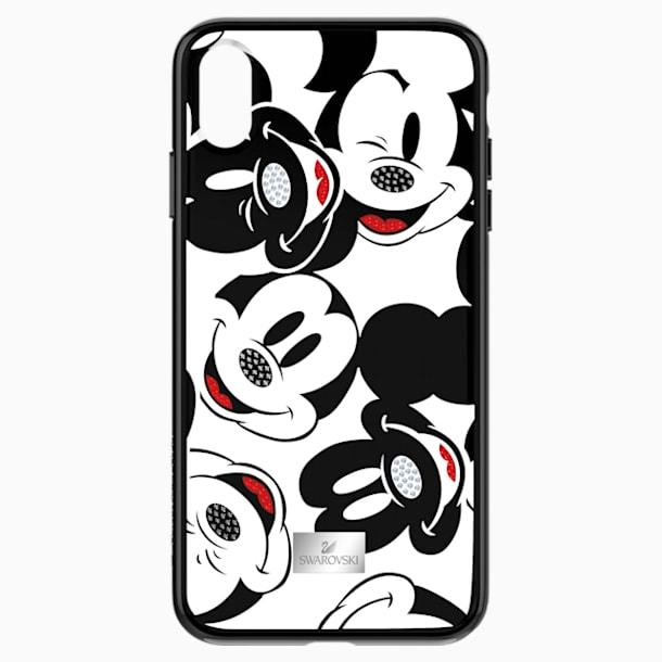 Pouzdro na chytrý telefon Mickey Face s integrovaným ochranným okrajem, iPhone® XS Max, černé - Swarovski, 5449139