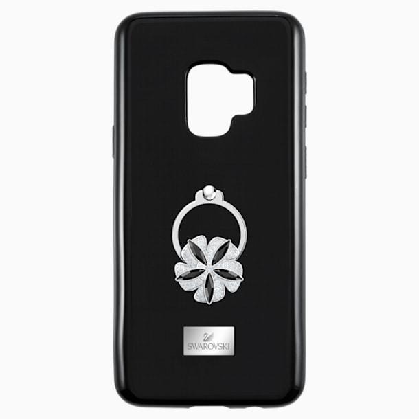 Funda para smartphone con protección integrada Mazy ring, Galaxy S®9, negro - Swarovski, 5449145