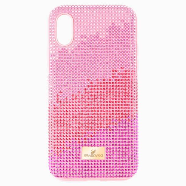 Coque rigide pour smartphone avec cadre amortisseur High Love, iPhone® X/XS, rose - Swarovski, 5449510