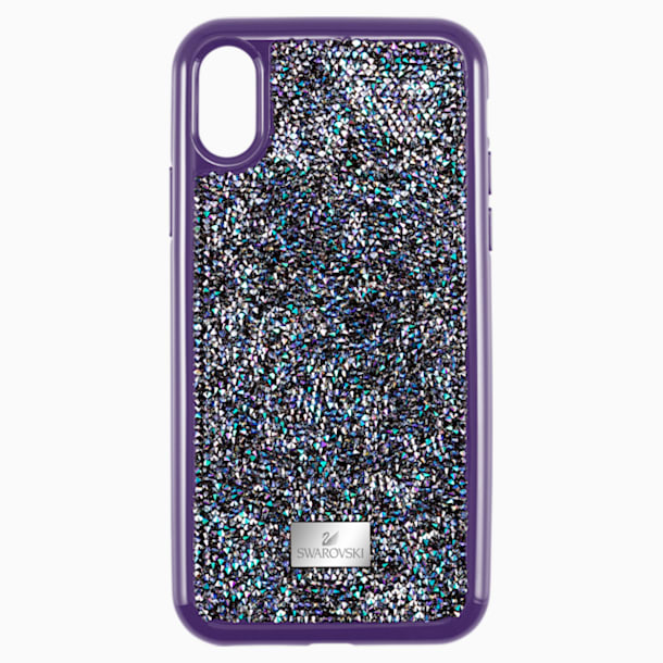 Glam Rock Smartphone case with Bumper, iPhone® X/XS, Purple - Swarovski, 5449517