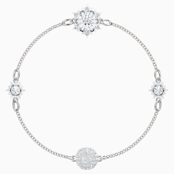 Swarovski Remix Collection Snowflake Strand, 白色, 镀铑 - Swarovski, 5451036