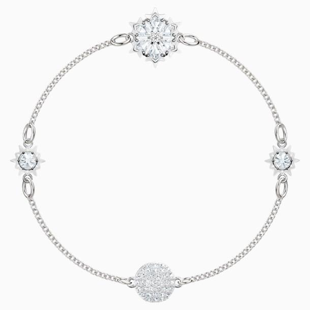 Swarovski Remix Collection Strand Snowflake, blanco, Baño de Rodio - Swarovski, 5451036