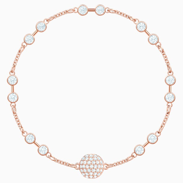 Swarovski Remix Collection Carrier, White, Rose-gold tone plated - Swarovski, 5451037