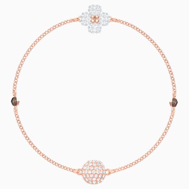 Swarovski Remix Collection Clover Strand, Белый Кристалл, Покрытие оттенка розового золота - Swarovski, 5451088