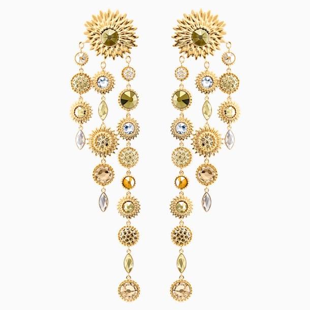 Nemesia 穿孔耳環花托, 多色設計, 鍍金色色調 - Swarovski, 5451400