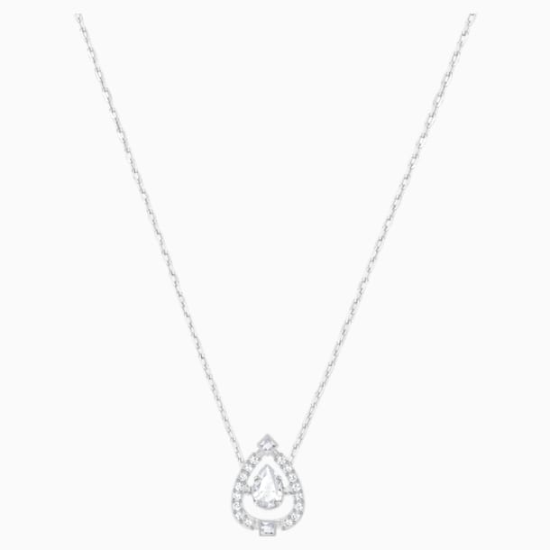 Swarovski Sparkling Dance Pear 项链, 白色, 镀铑 - Swarovski, 5451992