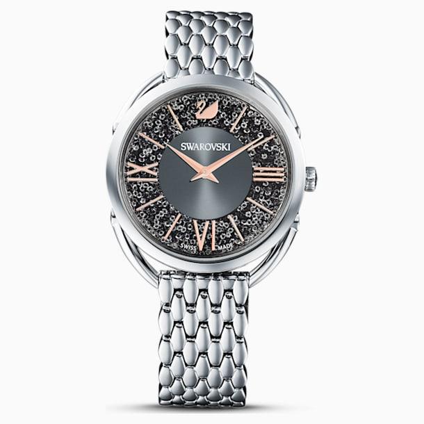 Crystalline Glam Watch, Metal bracelet, Gray, Stainless steel - Swarovski, 5452468