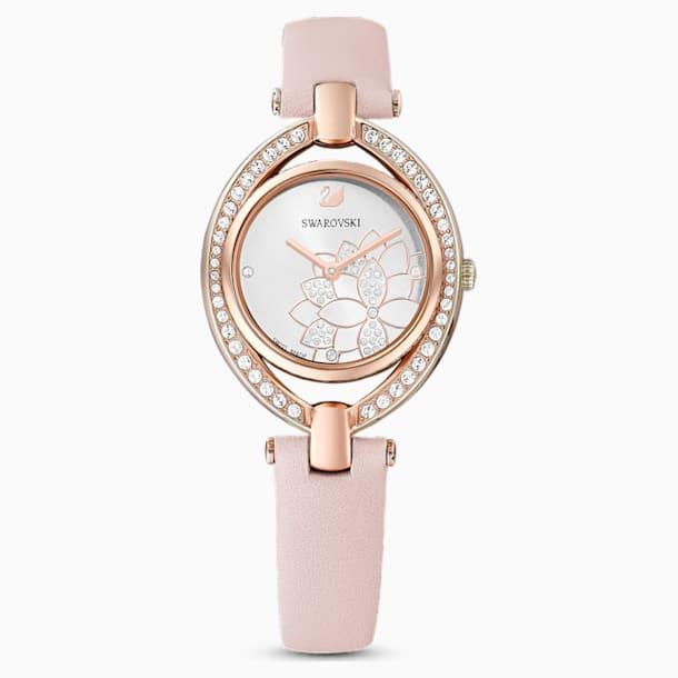 Zegarek Stella, pasek ze skóry, różowy, powłoka PVD w odcieniu różowego złota - Swarovski, 5452507