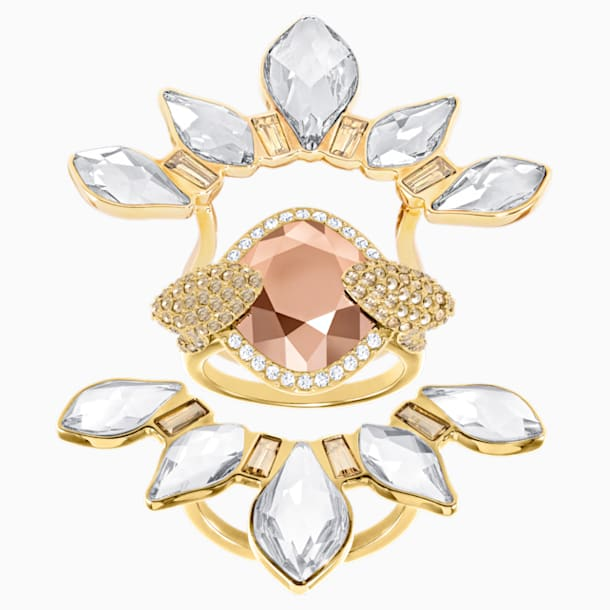 Odysseia 戒指图案, 彩色设计, 镀金色调 - Swarovski, 5452526