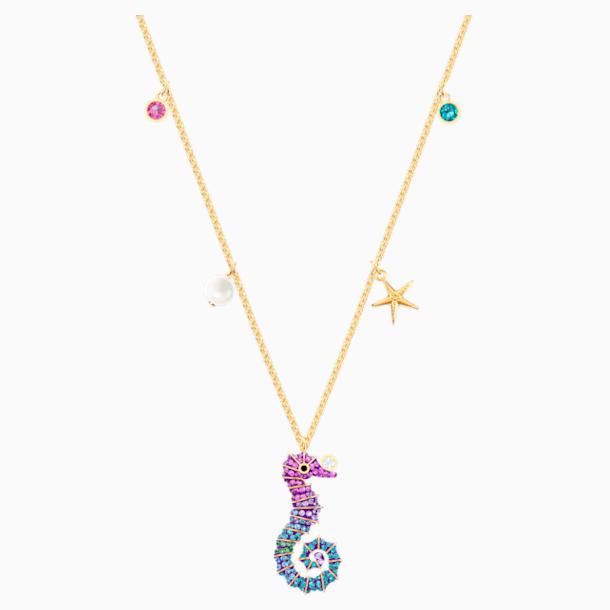 Colgante Ocean Seahorse, multicolor, Baño en tono Oro - Swarovski, 5452562