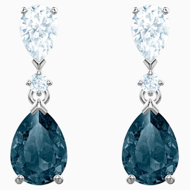 Vintage 穿孔耳环, 蓝色, 镀铑 - Swarovski, 5452579