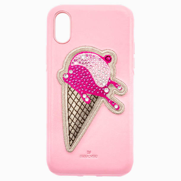 No Regrets Ice Cream Smartphone case with integrated Bumper, iPhone® X/XS, Pink - Swarovski, 5452596