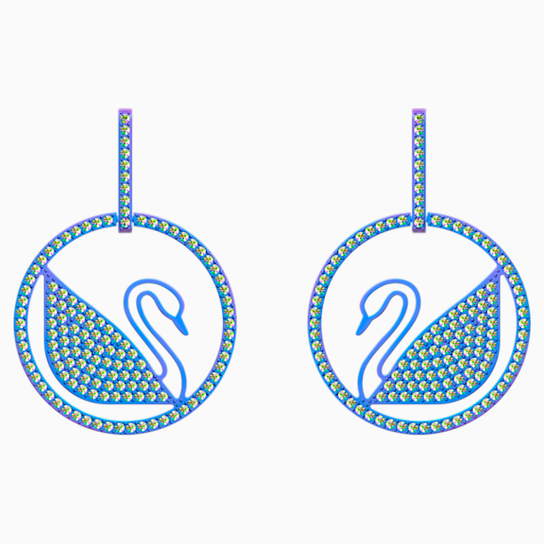 Boucles d'oreilles Pop Swan, violet, Revêtement PVD lilas - Swarovski, 5452633