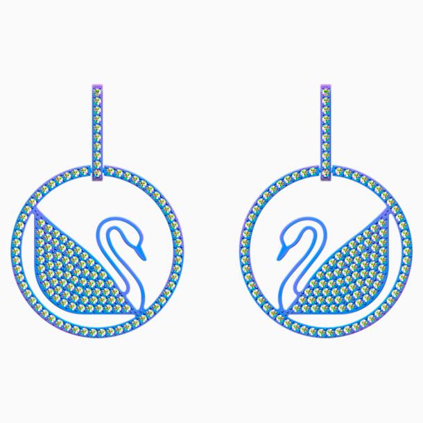 Pop Swan 穿孔耳環, 紫色, 丁香紫色 PVD塗層 - Swarovski, 5452633