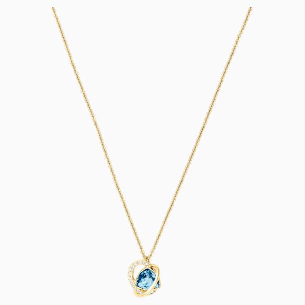 Outstanding 链坠, 海蓝色, 镀金色调 - Swarovski, 5455037
