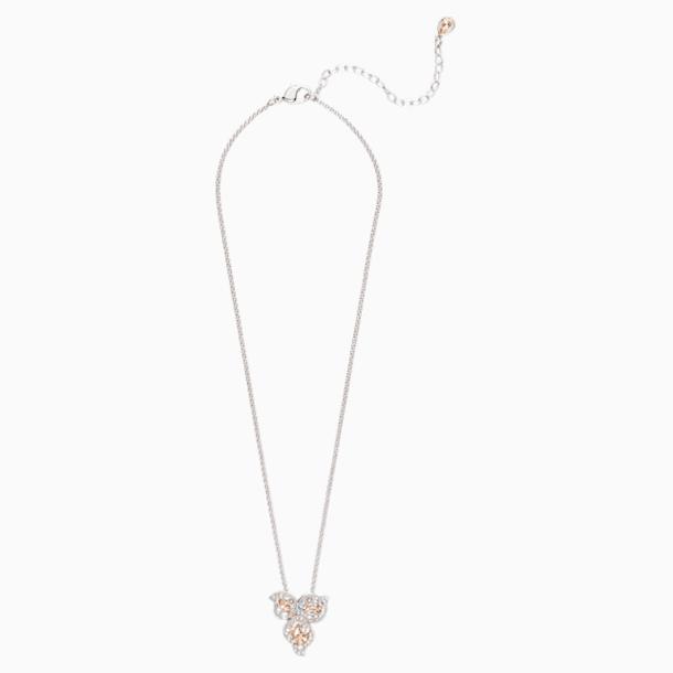 Graceful Bloom Pendant, Pink, Palladium plated - Swarovski, 5455660