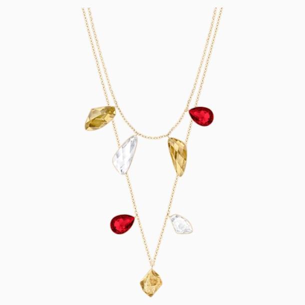 Collar versátil Prisma, multicolor, Baño en tono Oro - Swarovski, 5456603