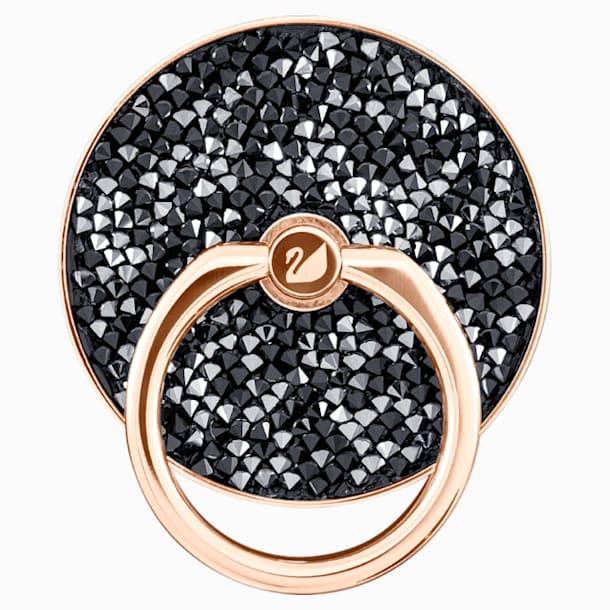 Glam Rock 手機指環, 黑色, 混搭多種鍍層 - Swarovski, 5457469