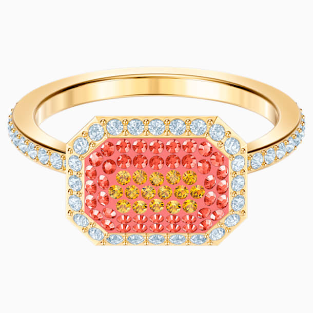 Bague No Regrets, multicolore, métal doré - Swarovski, 5457503