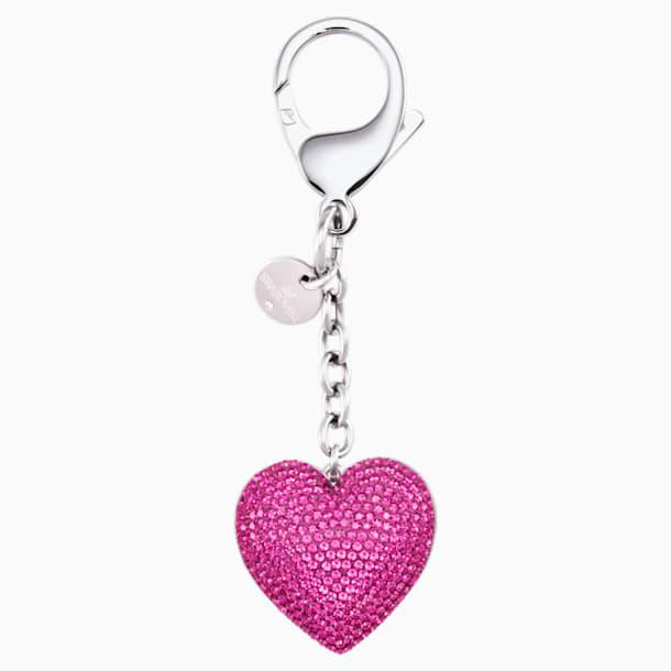 Accessorio per borse Lovely, fucsia, acciaio inossidabile - Swarovski, 5458417